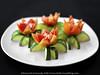 Vegetable Carving - Tomato Flower Plate (Bitter-Sweet-) Tags: vegan vegetarian food foodart carving decorative garnish art craft knifeskills thailand chiangmai fresh playwithyourfood fun workshop