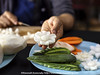 Vegetable Carving - Daikon Flower (Bitter-Sweet-) Tags: vegan vegetarian food foodart carving decorative garnish art craft knifeskills thailand chiangmai fresh playwithyourfood fun workshop
