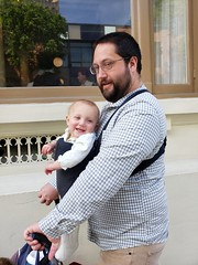 Out and about (quinn.anya) Tags: andy eliza baby carrier stroller father