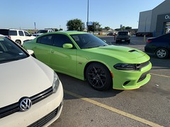 IMG_2524 (Smalltowntx87) Tags: 2019 dodge charger scat pack automotive dealership brand new car sublime green pearl 392 hemi 64 57 iphone xs max fiat chrysler 485hp srt