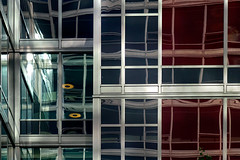 inner pieces (♫ marc_l'esperance) Tags: carlzeissjena135mmf4 triotar vintagelens manualphotography m abstract reflections building geometry geometric architectural abstraction modern architecture design glass steel marclesperancephoto 2019 cml luxmaticcom