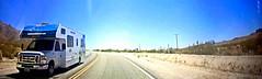 Motor Home (EmperorNorton47) Tags: twentyninepalms california photo digital spring motorhome desert highway road videocapture panorama blm panoramic cropped mojavedesert n56dashcam