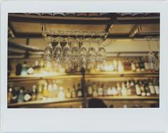 the night (breeze.kaze) Tags: instant film fujiinstaxwidefilm mintinstantkonrf70 night bar glasses lights