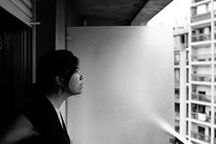 Nathalie. (Nicolas Fourny photographie) Tags: canon eos5 model beauty portrait portraiture womanportrait home brunette beautifulwoman naturallight grain blackandwhite bw noiretblanc kodak tmax film filmisnotdead analogcamera analogphotography 35mm 50mm dof depthoffield