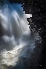 The Alcove (Maclobster) Tags: athabasca falls chiaroscuro water fall jasper alberta inspiration contemplation