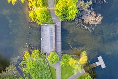 Gray's Bay Dam (Mercenaryhawk) Tags: dji mavic 2 pro drone aerial dam grays bay minnetonka minnesota mn minnehaha headwaters water lake creek dock trees green spring