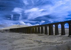 Ribblehead viaduct (CdL Creative) Tags: cdlcreative chapelledale england la6 northyorkshire olympus ribblehead ribbleheadviaduct unitedkingdom yorkshire infrared viaduct carnforth