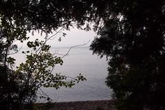 Copper Harbor Through Trees (BunnyHugger) Tags: copperharbor keweenaw lakesuperior michigan upperpeninsula