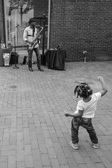 (Steve Brezger Photography) Tags: people places street candid city dance muscians music public talent urban monochrome