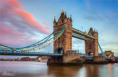 Almost Sunset at Tower Bridge, London (AdelheidS Photography) Tags: adelheidsphotography adelheidspictures adelheidsmitt towerbridge england greatbritain britain british grootbrittanie unitedkingdom uk london londen thamesriver clouds sunset landmark monument famous