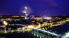 Fire - 6900 (✵ΨᗩSᗰIᘉᗴ HᗴᘉS✵62 000 000 THXS) Tags: fire firework fireworks feu feudartifice belgium europa aaa namuroise look photo friends be yasminehens interest eu fr party greatphotographers lanamuroise flickering bridge pont jambes