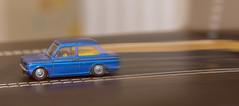 Hilman (alderson.yvonne) Tags: macromondays childhoodtoys blue car old hilman toy macro