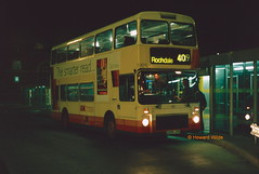 First Manchester 5305 (D305 JVR) (SelmerOrSelnec) Tags: firstmanchester mcw metrobus northerncounties d305jvr ashtonunderlyne night 409 gmbuses bus