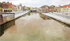 La Lys et les quais, Kortrijk (Courtrai) Flandre Occidentale, Belgium (claude lina) Tags: claudelina belgium belgique belgië kortrijk courtrai flandreoccidentale lys rivière river