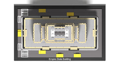 21046 Empire State Building_WIP_9 (RS 1990) Tags: lego studio 21046 empirestatebuilding newyork 2019 3d rendering povray wip workinprogress