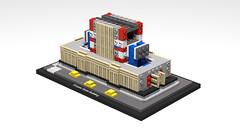 21046 Empire State Building_WIP (RS 1990) Tags: lego studio 21046 empirestatebuilding newyork 2019 3d rendering povray wip workinprogress