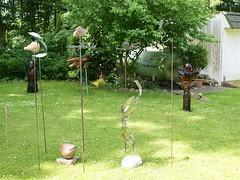 Skulpturen im Garten (Carl-Ernst Stahnke) Tags: gallerie miller skulpturen garten austellung sommerfeld