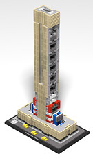 21046 Empire State Building_WIP_3 (RS 1990) Tags: lego studio 21046 empirestatebuilding newyork 2019 3d rendering povray wip workinprogress