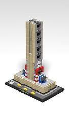 21046 Empire State Building_WIP_2 (RS 1990) Tags: lego studio 21046 empirestatebuilding newyork 2019 3d rendering povray wip workinprogress