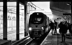 Crewe Cheshire 8th June 2019 (loose_grip_99) Tags: crewe cheshire england uk railway railroad rail train open day diesel engine locomotive electric transportation virgin station blackwhite noiretblanc shadows trains railways june 2019