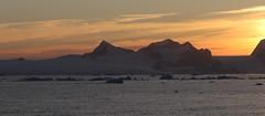 Sunset over the Antarctic Peninsula (Paul Cottis) Tags: weddellsea evening antarctica antarcticpeninsula ice iceberg ocean paulcottis 1 february 2019 feb sunset redsky coast mountain