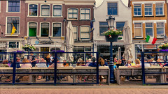 Behind The Blue Screen (Alfred Grupstra) Tags: street architecture urbanscene europe people city facade outdoors buildingexterior house famousplace tourism citylife cafe restaurant town builtstructure traveldestinations travel window gouda