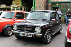 1980 1275GT Mini Clubman JMT212W Amberley Museum Mini Day 2019 (davidseall) Tags: 1980 1275gt 1275 gt mini clubman jmt212w jmt 212w black classic old shape style original amberley museum day 2019 west sussex uk 50 great british
