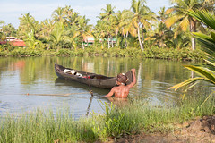 Munroe Island Life (Geraint Rowland Photography) Tags: munroeisland tropical man indianman southindia lifeonmunroeislandinkerala india wwwgeraintrowlandcouk heat river water portrait candid travelportrait environmentalportrait geraintrowlandsouthindia