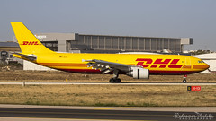 Malta International Airport (Redeemer_Saliba) Tags: dhl european air transport airbus a300b4622rf daeaa landing lmml luqa airport rwy 31