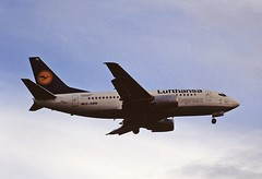 D-ABIN B737-500 Lufthansa LHR 19-06-93 (cvtperson) Tags: dabin boeing 737500 lufthansa london heathrow lhr egll