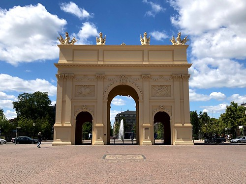 The 18th century Brandenburg Gate in Potsdam