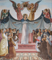 Mother of the Church (Lawrence OP) Tags: holyland einkerem blessedvirginmary ourlady mary mother angels queen mural visitation church