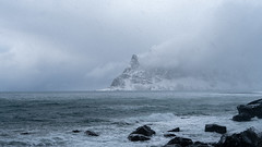 Waves of Furious Weather - Uttakleiv Beach (virtualwayfarer) Tags: norway lofoten norwegian nordic arcticcircle mountains fjord landscape peaceful sonyalpha a7rii travel travelphotography travelphotographer adventure adventurephotography northernlatitude roadtrip indietravel wild explore exploring dramaticnature aweinspiring weather calm arctic arcticphotography march snow snowy cold scandinavian valley dramaticlight singleshot sea seaside seascape snowcovered snowstorm dramaticweather coldweather tidalpools thedragonseye uttakleivbeach uttakleiv frozen naturephotography landscapes visittonorway visittolofoten challenging conditions hail drivingsnow norwegianadventure norwegianroadtrip travelinspiration traveling photodestination