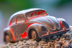 ... off-road ... (wolli s) Tags: childhoodtoys d7100 hmm macromondays nikon piccolo piccolo712 schuco vw beetle car fireengine firetruck focusstacking macro myveryfirsttoy nostalgic offroad old toy