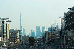 city of DUBAI (maksudulpunom) Tags: dubai burjkhalifa city skyscraper roads landscape town buildings