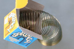 Slinky... (francepar95) Tags: macromondays childhoodtoys theme week challenge macro hmm slikny toy jouet enfance miniatrure tiny spring playing jouer ressort
