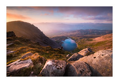 A Mirror for the Sky (Dave Fieldhouse Photography) Tags: wales snowdonia lake llynygadair cadairidris mountain glacial rocks geology sunset clouds reflection landscape nationalpark view wilderness uk valley summer evening fuji fujifilm fujixt2 wwwdavefieldhousephotographycom