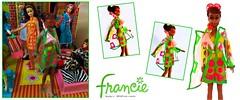 PAZAM! (ModBarbieLover) Tags: francie pazam fashion doll barbie mod mattel pink green yellow 1968 1960s opart plastic toy pop groovy braid sunglasses
