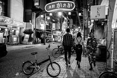 Hiroshima - Nagarekawa (-dow-) Tags: giappone hiroshima japan 広島 日本 nagarekawa monochrome bike bicycle bicicletta fujifilm x70
