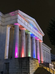 Smithsonian American Art Museum portico lit for gay pride, 7th Street NW, Washington, D.C. (Paul McClure DC) Tags: washingtondc districtofcolumbia galleryplace june2019 gaypride museum historic architecture