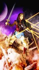 Wonder Woman at war (custombase) Tags: dc justiceleague mafex figure wonderwoman sword shield explosion tamashii effects diorama toyphotography
