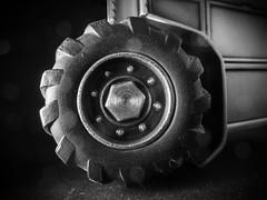"1"" (Uup115) Tags: hmm tyre macro closeup bokeh tractor traktori childhoodtoys bw blackwhite canon macromondays canonpowershotgx5 wheel"