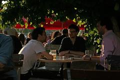 Friends (Wolfgang Bazer) Tags: donaukanal adria biertisch beer table freunde friends wien vienna österreich austria bar
