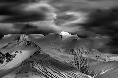Evolution (HWHawerkamp) Tags: island iceland mountains weather landscape white smow ice monochrome travel beauty giants blackwhite dramatic clouds winter
