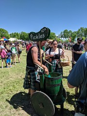 MVIMG_20190608_123713 (clefq) Tags: smpoole google pixel 2 htc mobile cell phone canada spring ontario upper village june 2019 medieval festival pickle man