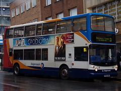Stagecoach TransBus Trident (TransBus ALX400) 18158 PX54 AWV (Alex S. Transport Photography) Tags: bus outdoor road vehicle stagecoach stagecoachmidlandred stagecoachmidlands unusual alx400 alexanderalx400 dennistrident trident transbustrident transbusalx400 route3 18158 px54awv