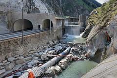 Urnerloch - Residual hydroelectric power plant (Kecko) Tags: 2019 kecko switzerland swiss schweiz suisse svizzera innerschweiz zentralschweiz uri gotthard schöllenen river reuss fluss urnerloch kraftwerk wasserkraftwerk kwg ckw dotierkraftwerk stauwehr weir swissphoto geotagged geo:lat=46645620 geo:lon=8589950