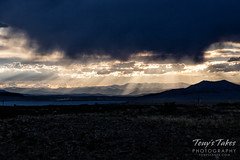 June 7, 2019 - Rays of sun at sunset near Eleven Mile. (Tony's Takes)