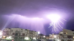 June 6, 2019 - A fantastic show of lightning. (Matthew Greenburg)