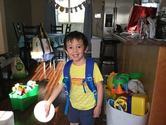 Ezra's Third Birthday (brownpau) Tags: birthday ipadair2 backpack ezra ezraordo
